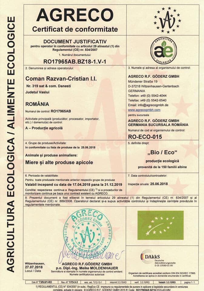 prisaca raiul certificat